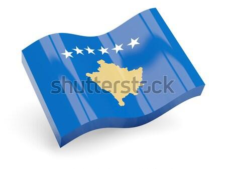 Flag label of kosovo Stock photo © MikhailMishchenko