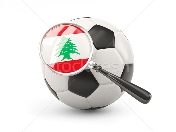 Futbol bayrak Lübnan yalıtılmış beyaz Stok fotoğraf © MikhailMishchenko