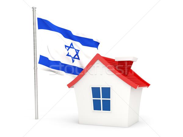 Ev bayrak İsrail yalıtılmış beyaz ev Stok fotoğraf © MikhailMishchenko