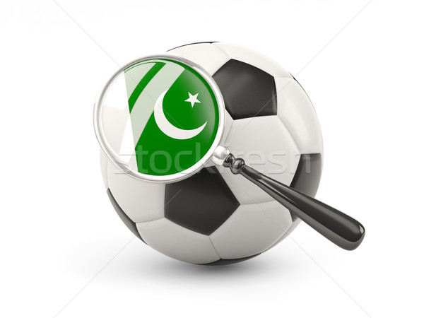 Football with magnified flag of pakistan Stock photo © MikhailMishchenko