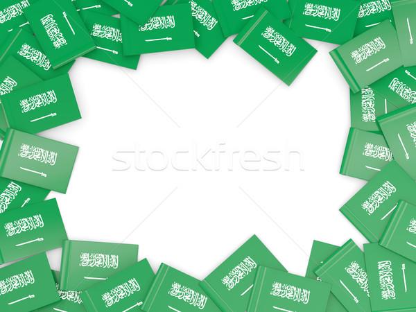 Frame vlag Saoedi-Arabië geïsoleerd witte Stockfoto © MikhailMishchenko