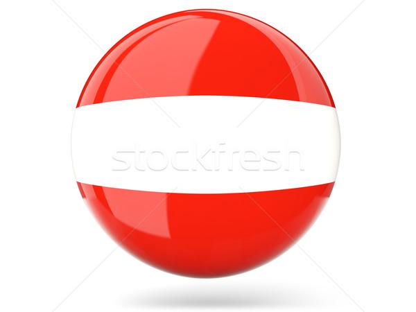 Ikona banderą Austria podpisania biały Zdjęcia stock © MikhailMishchenko