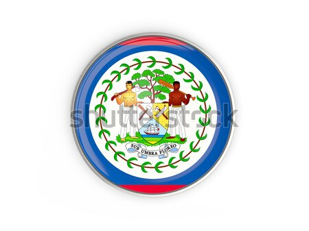 Ikon zászló Belize fényes felirat fehér Stock fotó © MikhailMishchenko
