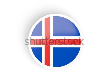 Round sticker with flag of iceland Stock photo © MikhailMishchenko