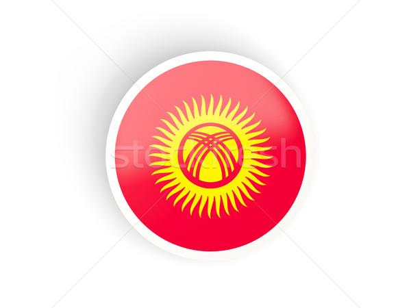 Sticker vlag Kirgizië geïsoleerd witte reizen Stockfoto © MikhailMishchenko