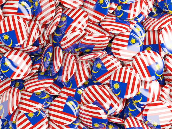 Bayrak Malezya arka plan ülke pin daire Stok fotoğraf © MikhailMishchenko