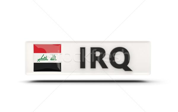 Praça ícone bandeira Iraque iso código Foto stock © MikhailMishchenko