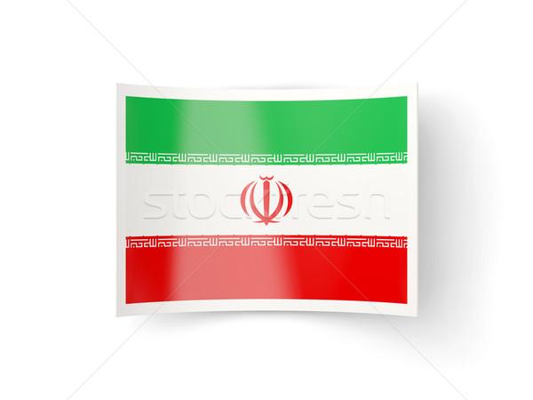 Bent icon with flag of iran Stock photo © MikhailMishchenko