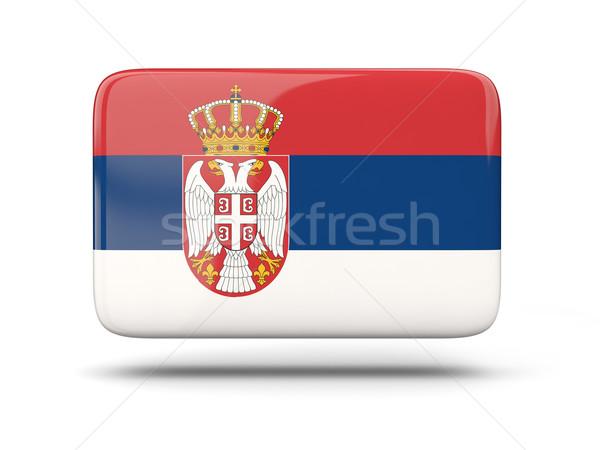 Placu ikona banderą Serbia cień podpisania Zdjęcia stock © MikhailMishchenko