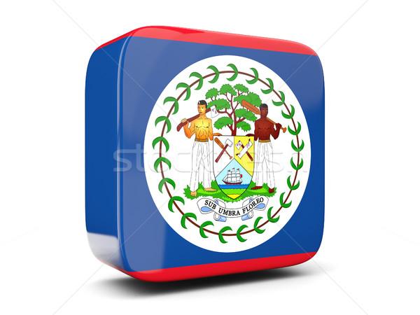 Tér ikon zászló Belize 3d illusztráció izolált Stock fotó © MikhailMishchenko