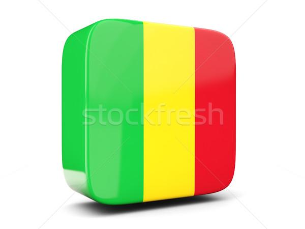 Square icon with flag of mali square. 3D illustration Stock photo © MikhailMishchenko