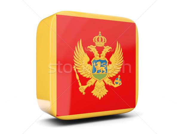 квадратный икона флаг Черногория 3d иллюстрации изолированный Сток-фото © MikhailMishchenko