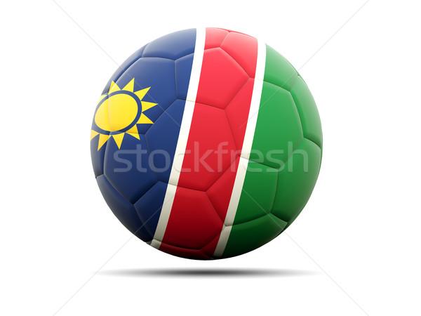 футбола флаг Намибия 3d иллюстрации Футбол спорт Сток-фото © MikhailMishchenko