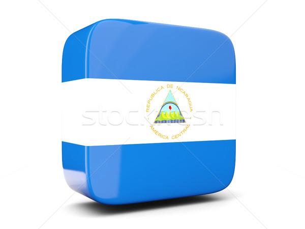 Tér ikon zászló Nicaragua 3d illusztráció izolált Stock fotó © MikhailMishchenko