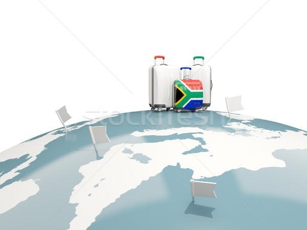 Bagage vlag zuiden afrika drie zakken Stockfoto © MikhailMishchenko