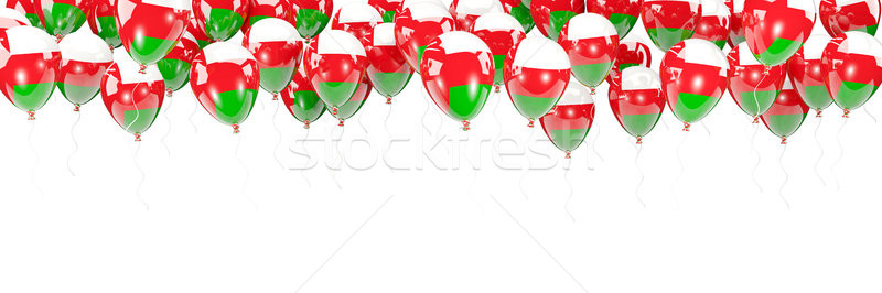 Balloons frame with flag of oman Stock photo © MikhailMishchenko