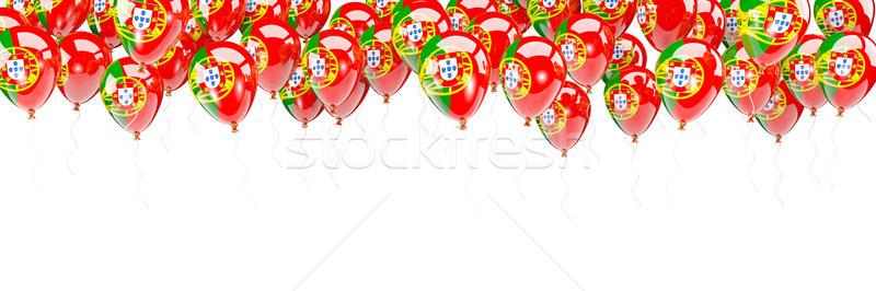Balloons frame with flag of portugal Stock photo © MikhailMishchenko