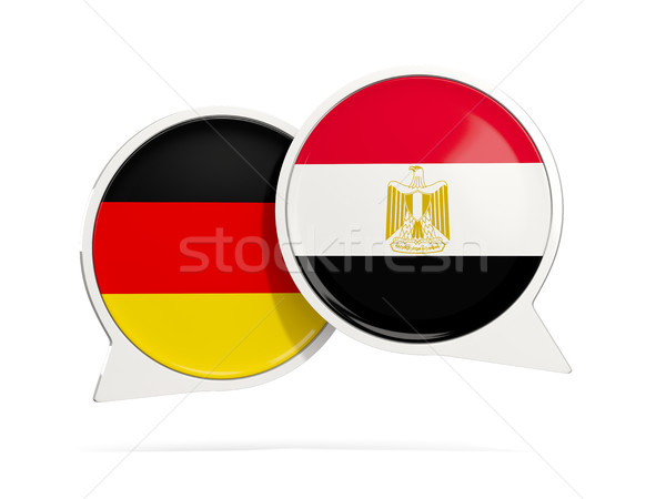 Stock photo: Chat bubbles of Germany and Egypt isolated on white