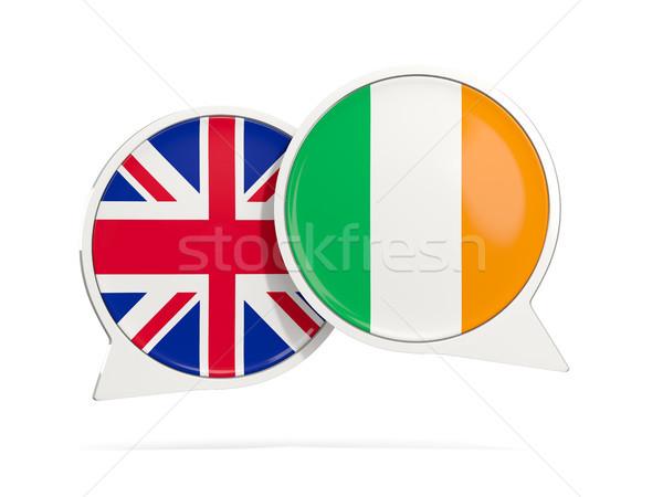 Chat bubbels Ierland geïsoleerd witte 3d illustration Stockfoto © MikhailMishchenko