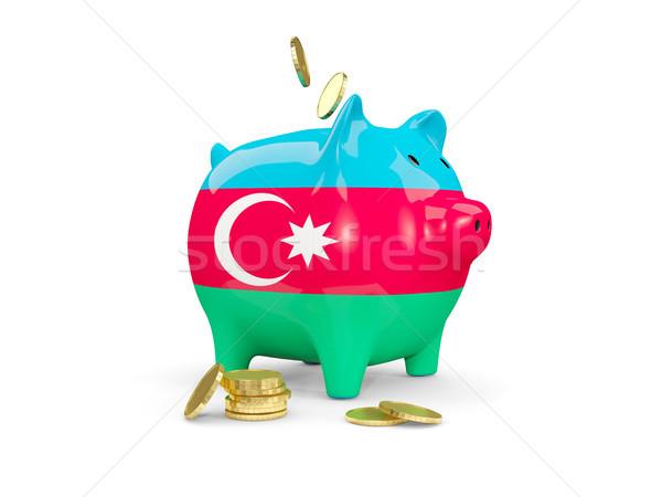 Grasa alcancía Azerbaiyán dinero aislado blanco Foto stock © MikhailMishchenko