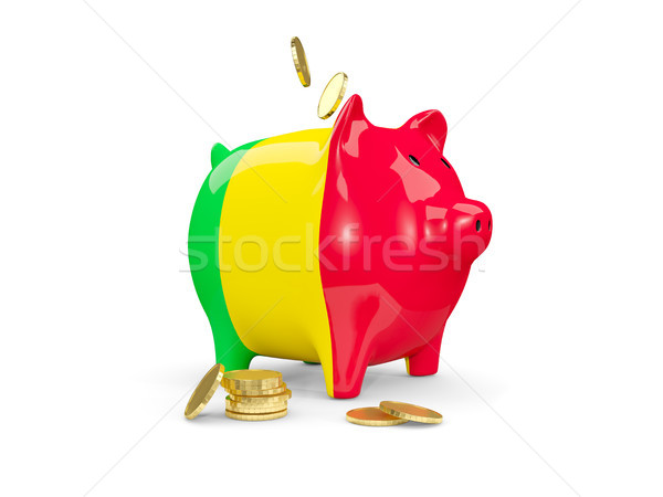 Fat piggy bank with fag of mali Stock photo © MikhailMishchenko