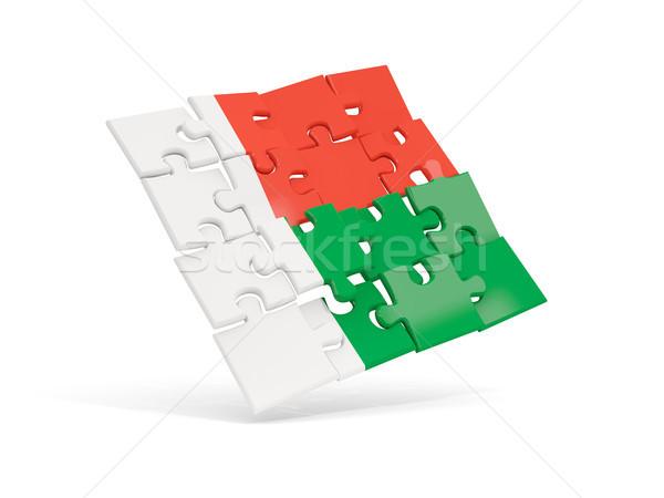 Puzzle pavillon Madagascar isolé blanche 3d illustration Photo stock © MikhailMishchenko