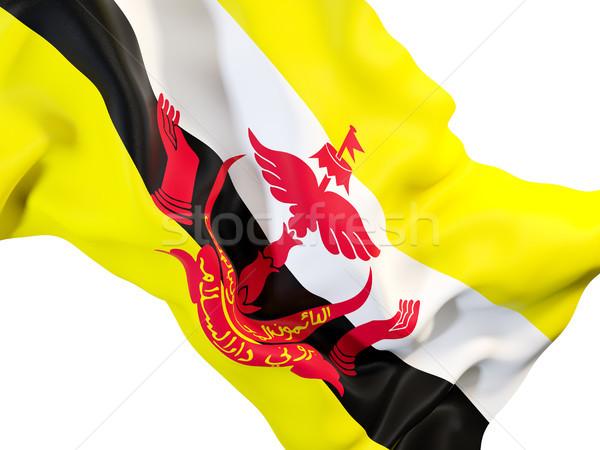 флаг Бруней 3d иллюстрации путешествия Сток-фото © MikhailMishchenko