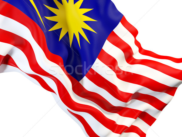 Waving flag of malaysia Stock photo © MikhailMishchenko