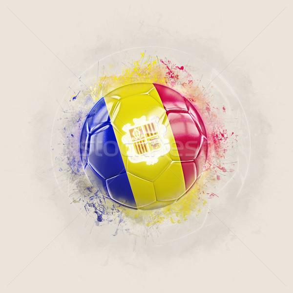 Grunge football with flag of andorra Stock photo © MikhailMishchenko