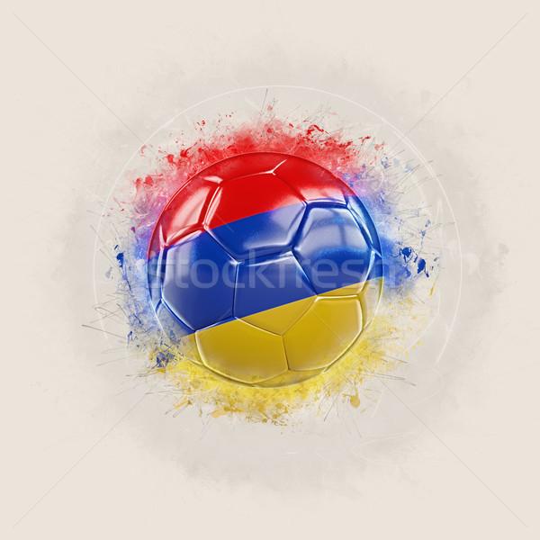 グランジ サッカー フラグ アルメニア 3次元の図 世界 ストックフォト © MikhailMishchenko