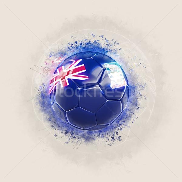 Grunge futball zászló Falkland-szigetek 3d illusztráció világ Stock fotó © MikhailMishchenko