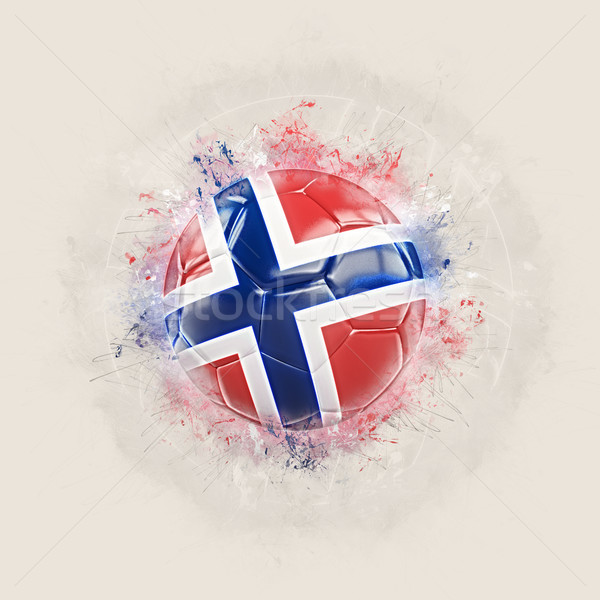 Grunge calcio bandiera Norvegia illustrazione 3d mondo Foto d'archivio © MikhailMishchenko