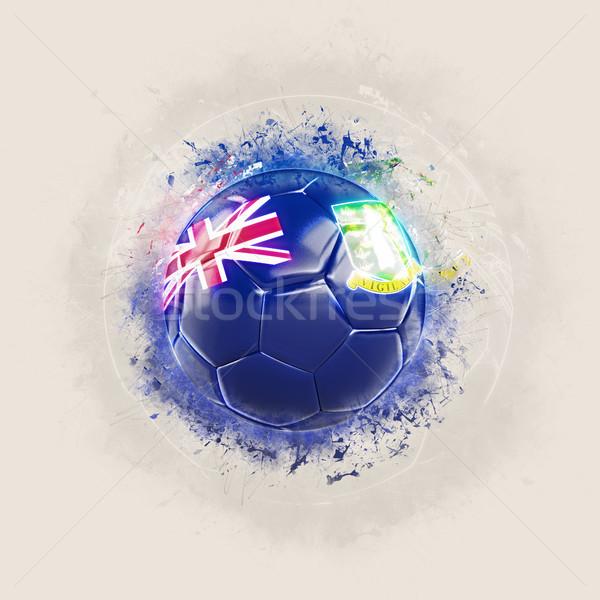 Grunge voetbal vlag Virgin Islands brits 3d illustration Stockfoto © MikhailMishchenko
