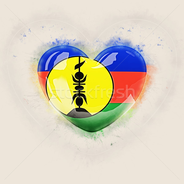 Heart with flag of new caledonia Stock photo © MikhailMishchenko