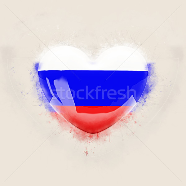 Heart with flag of russia Stock photo © MikhailMishchenko