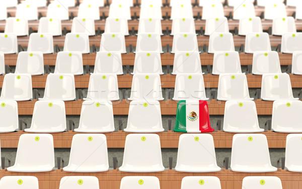 стадион сиденье флаг Мексика белый Сток-фото © MikhailMishchenko