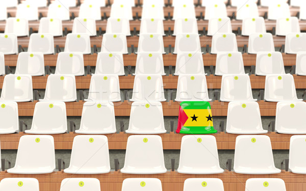 Stadium seat with flag of sao tome and principe Stock photo © MikhailMishchenko