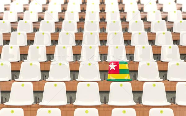 Stadio sede bandiera Togo fila bianco Foto d'archivio © MikhailMishchenko