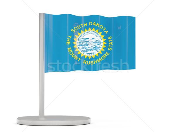 Vlag pin South Dakota Verenigde Staten lokaal vlaggen Stockfoto © MikhailMishchenko