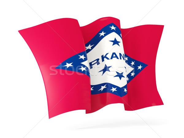 Arkansas banderą ikona Stany Zjednoczone Zdjęcia stock © MikhailMishchenko