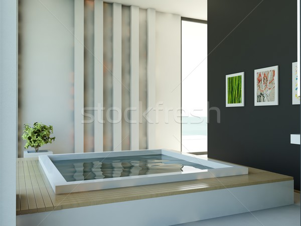 Modern bathroom Stock photo © MikhailMishchenko