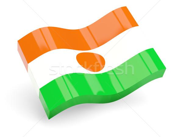 3D bandera Níger aislado blanco ola Foto stock © MikhailMishchenko