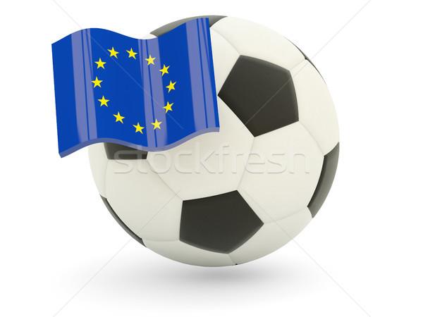 Football with flag of european union Stock photo © MikhailMishchenko