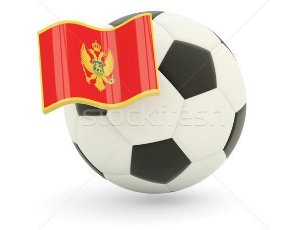 Football with flag of montenegro Stock photo © MikhailMishchenko