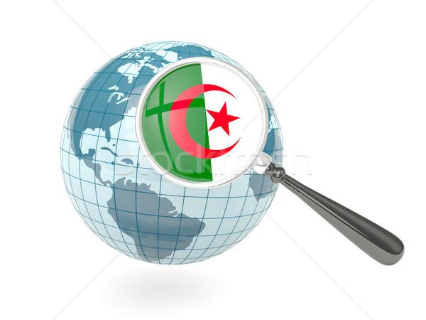 флаг Алжир синий мира изолированный Сток-фото © MikhailMishchenko