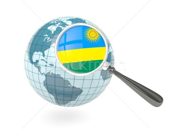 Stok fotoğraf: Bayrak · Ruanda · mavi · dünya · yalıtılmış