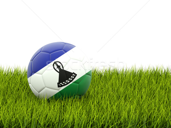 Football with flag of lesotho Stock photo © MikhailMishchenko