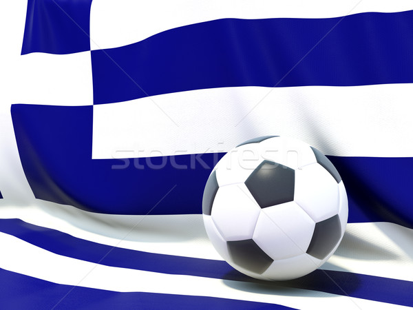 Flag of greece with football in front of it Stock photo © MikhailMishchenko