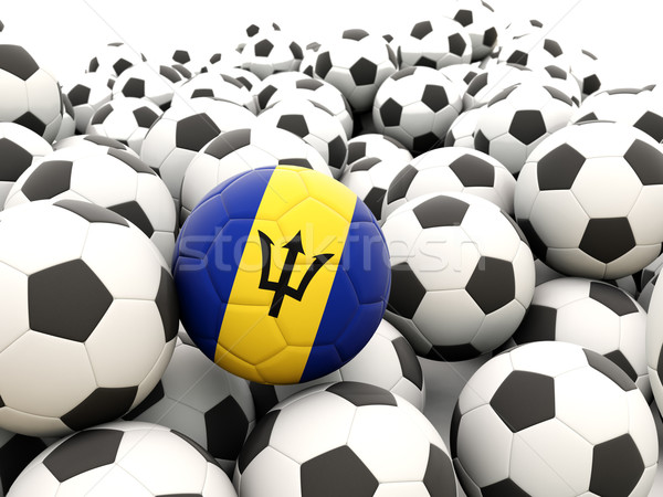 Football with flag of barbados Stock photo © MikhailMishchenko