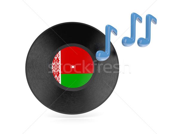 Vinil disk bayrak Belarus yalıtılmış beyaz Stok fotoğraf © MikhailMishchenko